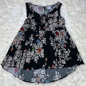 Lauren Conrad Sleeveless Floral Baby Doll Top